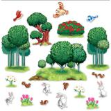 Wanddeko Zauberhafte Tier & Pflanzenwelt 20-tlg.