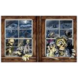 "Wanddeko ""Zombies am Fenster"" 157 cm"