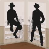 "Wanddeko ""Howdy Cowboys"" 2-tlg."