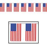 Wetterfeste Flaggen-Girlande USA 18,3 m
