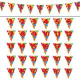 "Wimpel-Girlande ""Happy Birthday Bunte Ballons"" 10 m"