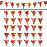 "Wimpel-Girlande ""Happy Birthday Bunte Ballons"" 10 m -50"