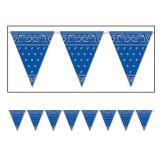 "Wimpel-Girlande ""Blaues Bandana"" 3,7 m"