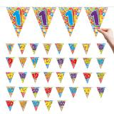 "Zahlen-Wimpel-Girlande ""Happy Crazy Birthday"" 6 m"