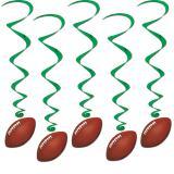 """Wirbel-Deckenhänger """"American Football"""" 5er Pack"""