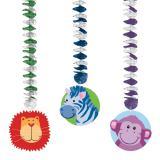 """Wirbel-Deckenhänger """"Safari Kids"""" 3-tlg. 23 cm"""