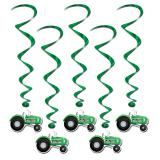 "Wirbel-Deckenhänger ""grüner Traktor"" 5er Pack 102 cm"