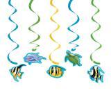 "Wirbel-Deckenhänger ""Ocean Party"" 5er Pack"