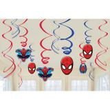 "Wirbel-Deckenhänger ""Spiderman Party"" 6er Pack"