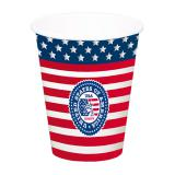 "XL-Pappbecher ""American Style"" 8er Pack"