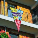 "XXL Wimpel ""Happy Crazy Birthday"" 90 x 150 cm"