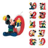 """Zahlenkerze """"Micky und Co."""" 5 cm"""