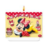 "Zahlenkerze ""Minnie Maus"" Happy Birthday 7 x 9 cm"