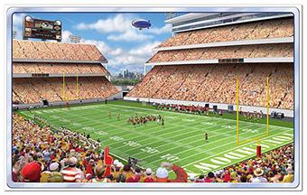 American Football Stadion Wanddeko