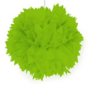 Grüner Pom-Pom aus Wabenpapier