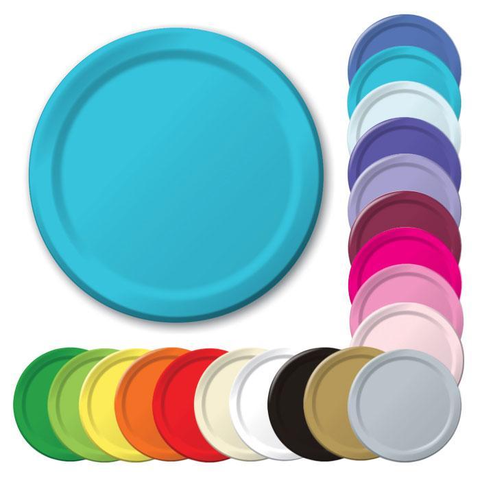 Einfarbige Pappteller