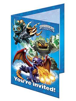 Einladungskarten - Skylanders Giants