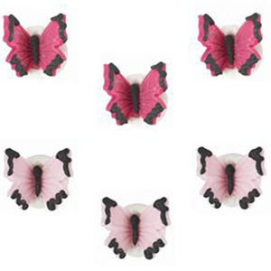Niedliche, essbare Schmetterlinge