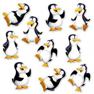 Lachende Pinguine - Dekobild